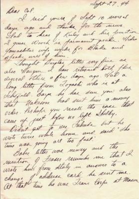 Maj Jim W Lovell, 09/27/1944, page 1
