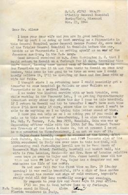 Shinobu Tofukuji, 11/23/1944