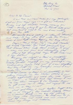 Shinobu Tofukuji, 12/20/1944, page 1