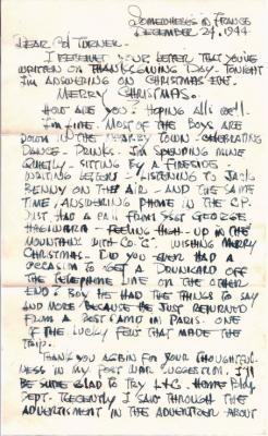 Tad Ohta, 12/24/1944, page 1
