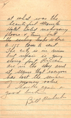 W Bill Overbeck, 07/26/1945, page 2