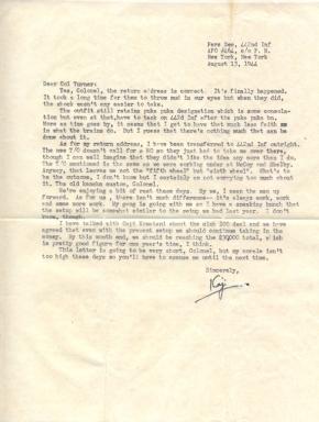 WOJG Hideo Kajikawa, 08/13/1944