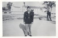 Captain Katsumi Kometani at Camp McCoy, Wisconsin [Courtesy of Dorothy Kometani]