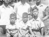 """""""Yoshioka Boys""""  Back row, left to right:  Hisashi, Yoshito (Roy), Susumu (Clay) Front row:  Fumio, Nobuyoshi, Norio  [Courtesy of Wayne Yoshioka]"""