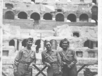 Yozo Yamamoto and friends visit the Coliseum in Rome while on leave [Courtesy of Sandy Erlandson]