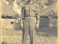 Yozo Yamamoto at Camp McCoy, Yozo Yamamoto at Camp McCoy, Wisconsin [Courtesy of Sandy Erlandson]